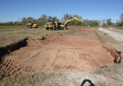 OU-2 Paule Property Material Excavation / Looking North (October 13, 2015)