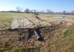 OU-2 Former Ballfields Northeastern Area, Drainage Pipe Installation / Looking South / Southwest (December 4, 2015)