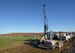 Groundwater Monitoring Well Installation, MW-7, MW-7S, OU-2 Former Ballfields Area / Looking East / Northeast (December 16, 2015)