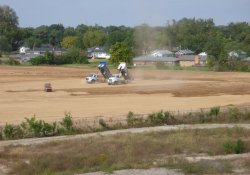 Clean Cover Soil Application, OU-2 Former Ballfields Area / Looking West / Northwest (October 6, 2015)