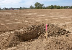 OU-2 Former Ballfields Area, Test Pit Dug to Confirm 2-Foot Required Thickness / Looking Southwest (October 20, 2015)