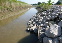 Eastern OU-1 Boundary Culvert, Sealed Pending Installation of A&S Railroad Drainage Pipe / Looking North (August 17, 2015)