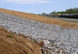 Area 1B Slopes Near A&S Railroad Gabion Wall / Looking North / Northeast (April 21, 2015)