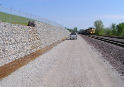 Piezometer Installation, A&S Railroad Gabion Wall Drainage Ditch / Looking North (April 30, 2015)
