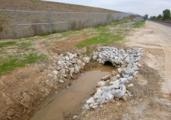 A&S Railroad Gabion Wall Drainage Pipe / Looking North (October 7, 2015)