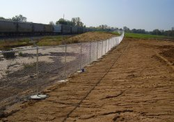Security Fence Installation, Eastern OU1 Boundary / Looking South (October 24, 2014)