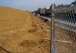 Security Fence Installation, Eastern OU1 Boundary / Looking North (October 24, 2014)