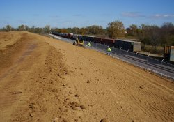Recent Security Fence Installation Along Eastern OU-1 Boundary / Looking North / Northeast (October 29, 2014)