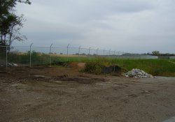 Security Fence, Southeast Corner of Site / Looking Northeast (October 2, 2014)