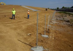 Security Fence Installation Activities, Eastern OU1 Boundary / Looking North / Northwest (September 26, 2014)