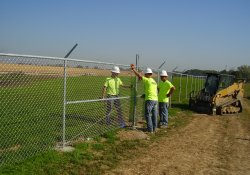 Security Fence Installation, Southeastern OU1 Boundary / Looking Northwest (September 29, 2014)