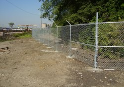 Security Fence Installation, Southeastern OU1 Boundary / Looking West / Southwest (September 29, 2014)