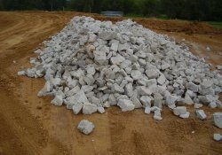 A&S Railroad Gabion Basket Structure Stone for 100-Yr Flood Emergency Overflow / Looking East (September 16, 2014)