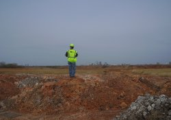 USEPA/IEPA Site Inspection, South-Southeastern Area / Looking West (April 17, 2014)