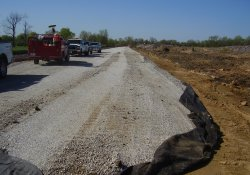 A&S Railroad 3rd Rail Project, Aggregate Surfacing / Looking South (April 22, 2014)