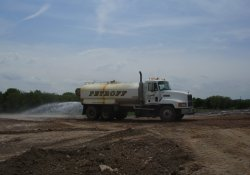 Water Truck for Dust Control / Looking East/ Southeast (May 12, 2014)