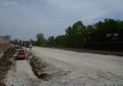 A&S Railroad 3rd Rail Project Activities / Looking North (May 12, 2014)