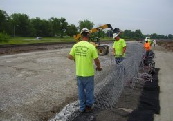 A&S Railroad Gabion Wall Construction Activities / Looking South/ Southeast (May 29, 2014)