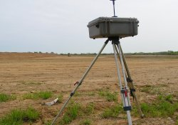 Air Monitoring Equipment, Area 1B Near OU-1 Haul Road Entrance / Looking North / Northeast (April 27, 2015)