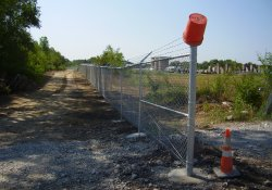Security Fence, Southern OU-1 Site Boundary / Looking East (July 29, 2014)