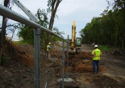 Security Fence Installation, Southern OU-1 Boundary / Looking West (July 18, 2014)