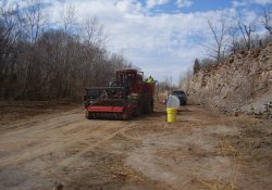 Clearing, Fueling the Mulching Machine / Looking West (March 11, 2014)