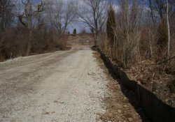 Erosion Control, Silt Fencing Along Site Entrance Road / Looking North (March 25, 2014)